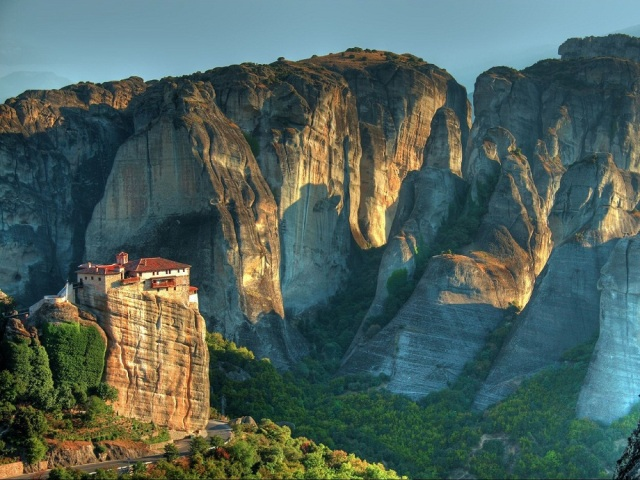 Meteora rocks and monasteries, Thessaly, Greece