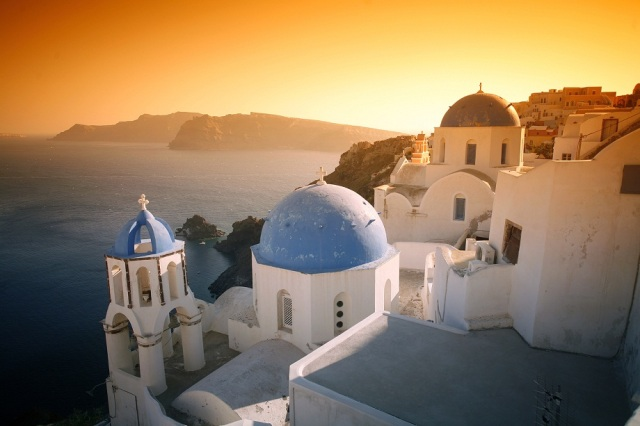 Santorini Island and caldera, Cyclades, Greece