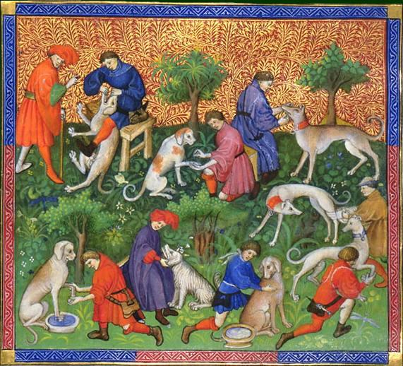 Από το Livre de Chasse (1387-1389), του Γκαστόν Φεμπύς, κόμητος της Φουά