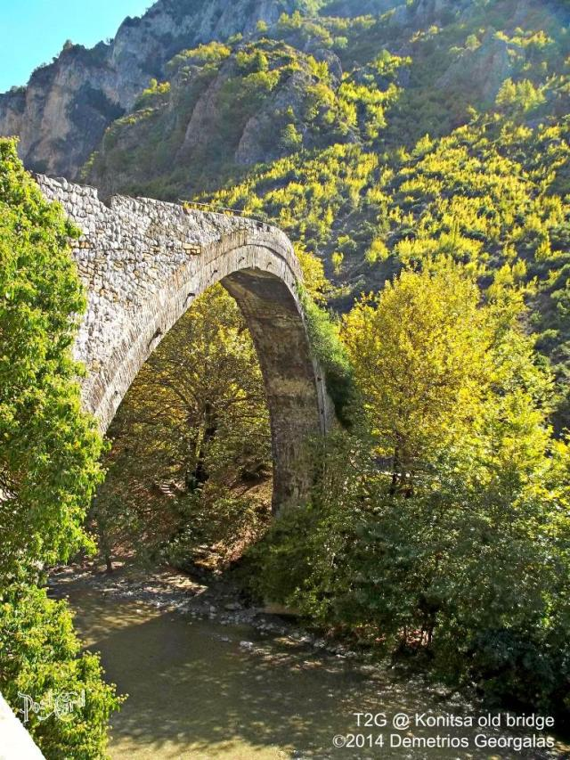 The Konitsa or Aoos Bridge is a unique bridge due to its location and construction. It was built in 1871 and costed 120.000 Turkish lira. The builder was Ziogas Frontzos
