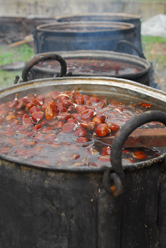 chestnuts boiling