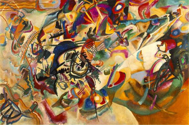 WASSILY KANDINSKY Composition, VII, 1913 oil on canvas 79 × 119 in 200.7 × 302.3 cm The State Tretyakov Gallery