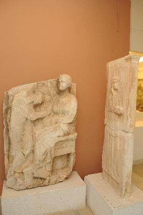 Αρχαιολογικό Μουσείο Λαυρίου, επιτύμβια ανάγλυφα © Β΄ ΕΠΚΑ