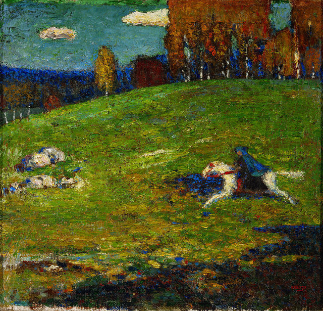 Der Blaue Reiter Wassily Kandinsky 1903 Städtische Galerie in the Lenbachhaus in Munich 55 x 65 cm