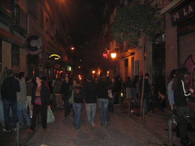Nights in Malasaña are often crowded