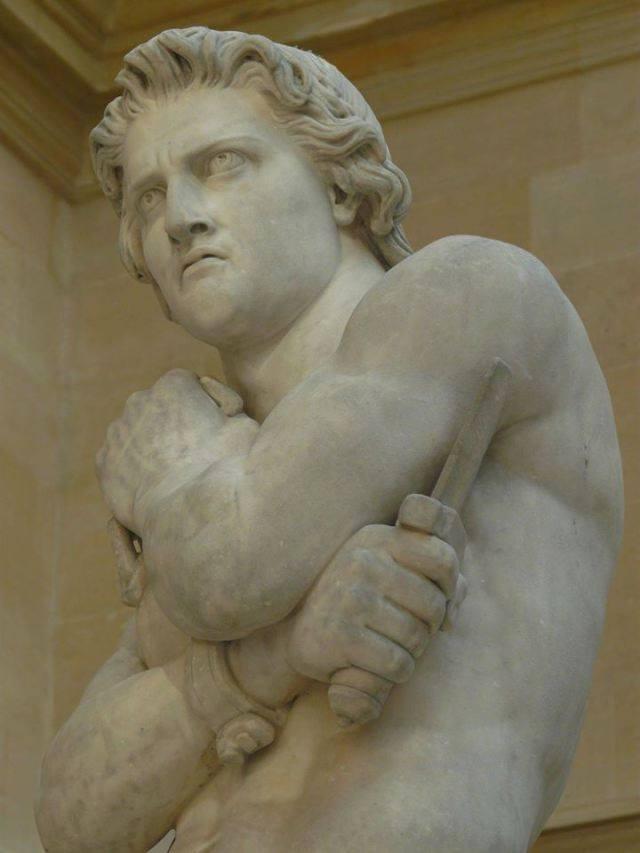 Σπάρτακος, λεπτομέρεια αγάλματος του 1830, του Denis Foyatier (1793-1863). Βρίσκεται στο Μουσείο του Λούβρου.